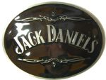 Jack Daniel's Oval Officially Licensed Belt Buckle + display stand